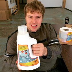 John with Achieve Clean Laundry Detergent New Formula