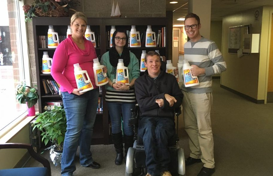 Laundry Detergent Delivery to Stepping Stone Emergency Housing
